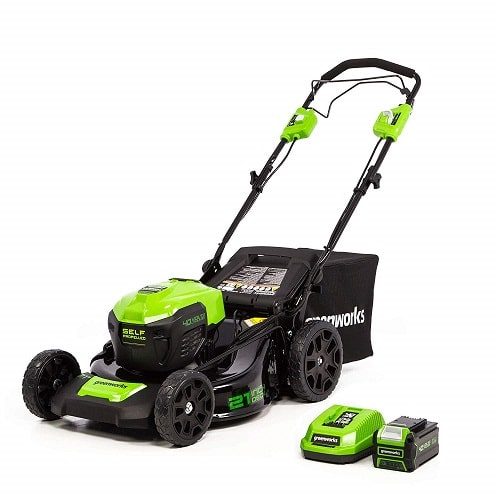 Greenworks LMF403 21-Inch 40V Cordless Brushless Self-Propelled Lawn Mower