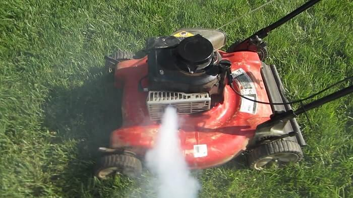 Oil Coming Out Lawn Mower Exhaust