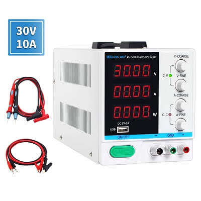 DC Power Supply Variable 30V 10A by LONGWEI