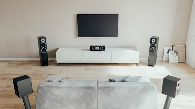 5.1 speaker placement couch against wall