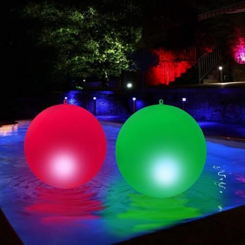 Floating Pool Lights – 15 Inches - Solar-Powered