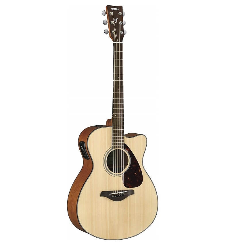 Yamaha FSX800C Small Body Solid Top Cutaway Acoustic-Electric Guitar
